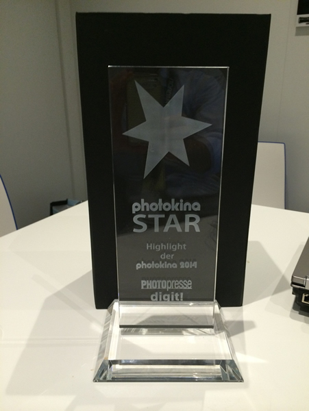 Photokina STAR Award の楯
